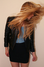 Black-blazer-black-skirt-h-m-top
