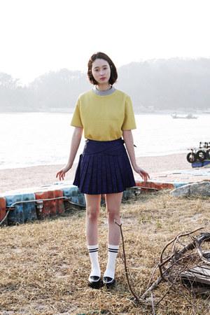 navy pleated skirt FashionToAny skirt