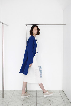blue blazer FashionToAny jacket - white skirt FashionToAny skirt