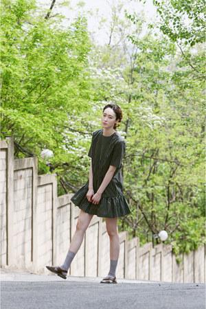 green dress FashionToAny dress - light brown sandals H&M sandals
