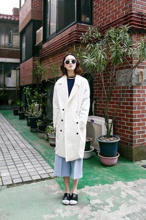 beige jacket FashionToAny jacket - sky blue pants FashionToAny pants