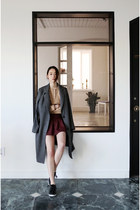 gray blazer FashionToAny blazer - shorts FashionToAny shorts - top H&M t-shirt
