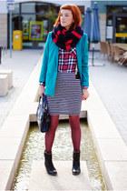 turquoise blue H&M blazer