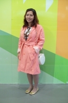 elle coat - Hermes blouse - anica shoes - Zara Trf skirt