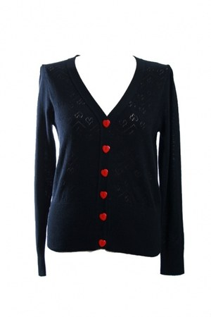 heart buttons cardigan