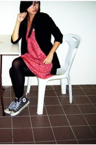 sophitix dress - DKNY blazer - Converse shoes