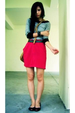 Zara top - none skirt - none belt