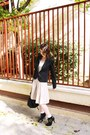 Zara-skirt-ankle-boots-asos-boots-h-m-dress-black-bershka-blazer
