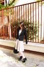 Zara-skirt-ankle-boots-asos-boots-h-m-dress-black-bershka-blazer
