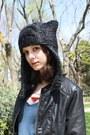 Black-forever21-boots-navy-zara-jeans-dark-gray-pixiebell-hat