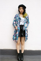 patten coat korea coat - beret H&M hat - korea shorts