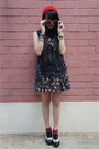 Quilted-bag-rubi-bag-beanie-daiso-hat-floral-skirt-cotton-on-skirt