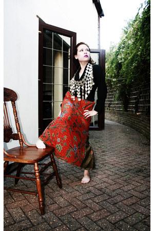 handmade skirt - black blazer Dorothy Perkins blazer - traditional accessories