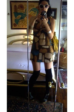 random shop dress - moms maxi purse - Zara socks - Zara