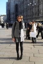 Max Mara dress - Zara jacket - max&co scarf - Zara boots - Zara purse