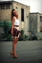 Topshop heels - Prada vintage bag - Pimkie top - Fendi vintage belt