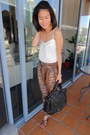 Black-chloe-esque-unknown-brand-bag-bronze-strappy-sandals-steve-madden-heels-