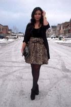 American Apparel bodysuit - Zara cardigan - Zara skirt - Mimosa shoes - Zara pur