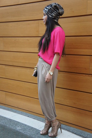 Zara heels - H&M hat - H&M pants - vintage top