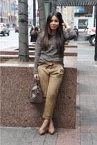 Forever 21 sweater - Zara pants - Aldo heels - Zara belt