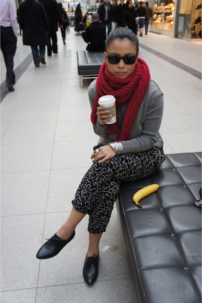 Aldo shoes - TNA sweater - Express scarf - Forever 21 pants