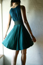 Teal-knit-larimeloom-dress