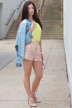Forever 21 shorts - H&M jacket - Bakers Shoes purse - Elie Tahari heels