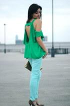 Topshop blouse - asos jeans