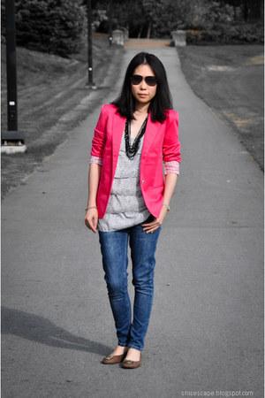 Zara jeans - Aqua top