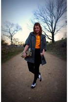 Urban Outfitters shoes - vintage coat - kate spade bag - banana republic blouse