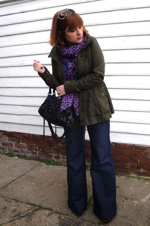 Forever 21 jacket - H&M scarf - Old Navy jeans - Frye shoes - balenciaga purse