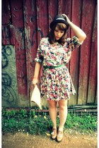 vintage dress - Gap hat - American Apparel bag - Steve Madden loafers