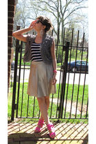 Forever 21 top - BCBG skirt - Urban Outfitters vest - Dolce Vita shoes