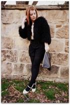 Frye shoes - Topshop coat - American Apparel bag - Anthropologie shorts - Topsho