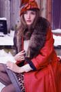 Crimson-vintage-coat-eggshell-vintage-blouse-black-nine-west-boots-bronze-