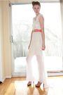 Beige-aldo-shoes-pink-vintage-belt-white-diy-dress