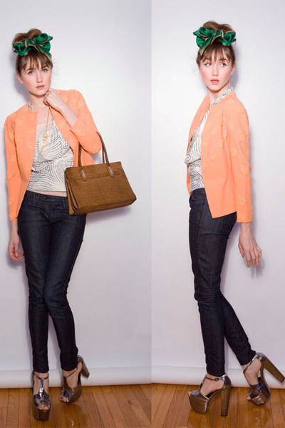 orange Vintage from chicshopca blazer - silver Jessica Simpson shoes