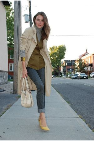 yellow Nine West shoes - beige Chloe purse - green Vero Moda vest