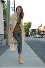 Yellow-nine-west-shoes-beige-chloe-purse-green-vero-moda-vest