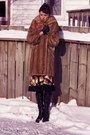 Mustard-vintage-from-chicshopca-skirt-black-aldo-boots