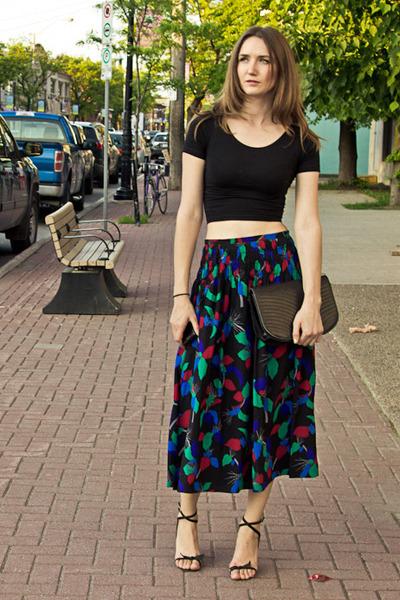 dark gray Chloe skirt - black American Apparel top