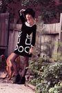 Brown-chloe-dress-black-zara-shoes