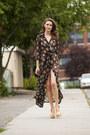 Gold-halston-shoes-black-vintage-dress