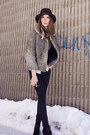 Black-zara-boots-silver-vintage-coat-black-bcbg-pants