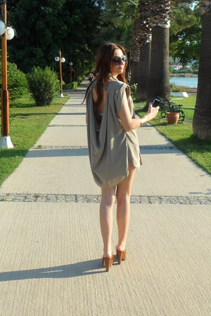 Twist blouse - Zara bag - Louis Vuitton sunglasses - Victorias Secret swimwear