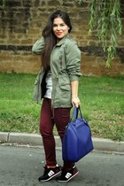 Zara bag - Mustang shoes - Billabong t-shirt