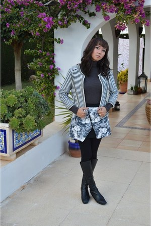 black Zara skirt - navy Bershka jacket