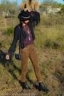 Black-asos-hat-black-fringe-topshop-jacket