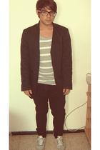 H&M shirt - Zara blazer - H&M pants - nike