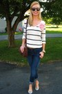Navy-target-jeans-white-forever-21-sweater-brown-target-bag